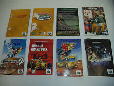 Lot of 8 AS-IS N64 Nintendo 64 Bundle Instruction Manual Guide Booklets- Zelda!