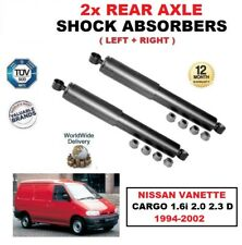 FOR NISSAN VANETTE CARGO 1.6i 2.0 2.3 D 1994-2002 REAR AXLE SHOCK ABSORBERS SET