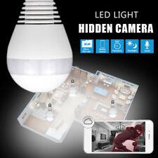 LED Bulb Light Wireless IP Camera Panoramic Wi-Fi Lamp FishEye 360 ° Mini Camara