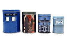 Doctor Who Canisters 4-Pack Box Set - Tardis 4th Tom Baker Dalek K-9