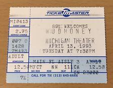 1993 MUDHONEY ANN ARBOR MI CONCERT TICKET STUB MARK ARM STEVE TURNER GREEN RIVER