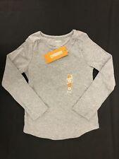 NWT Gymboree Girls Gray Ruched Shoulder LS Top Size 5