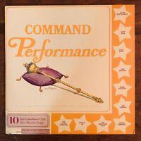 COMMAND PERFORMANCE VINYL LP COLUMBIA CSS-532 PERCY FAITH BOBBY HACKETT VARIOUS
