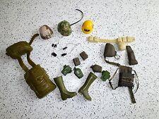GI Joe Military Adventure Accessories  Helmets Bags Dog Tags Canteens +   Lot L3