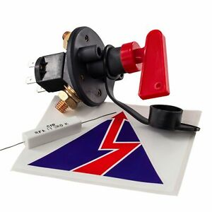 Master Battery Isolator Cut Out/Off Kill Switch FIA Type Kit Car Race Rally