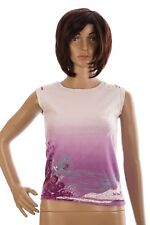 Fat Face Age 10-11 100% Cotton Purple Surf Design Sleeveless Vest T Shirt Girls