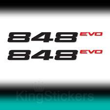 2 ADESIVI DUCATI 848 EVO STICKERS DECAL 848 evo moto 2 colori
