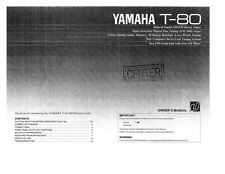 Yamaha T-80 Tuner Owners Manual