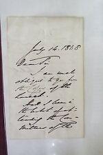 Anthony Ashley-Cooper Handwritten Letter - 1868