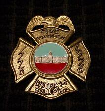 Washington Dc District Columbia Fireman Fire Badge Cairns Helmet Braxmar Reese
