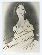 Maria Callas (Opera): Signed Photograph in La Traviata