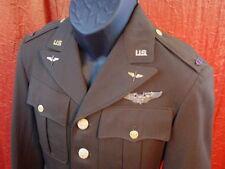WWII US AIR FORCE RARE FLIGHT OFFICER JACKET UNIFORM COAT AERIAL GUNNER WINGS