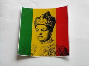 Aufkleber, Sticker Queen Empress Ethiopia Rasta Reggae