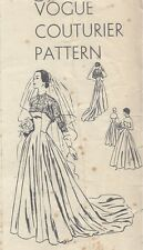 1950 Vintage VOGUE Sewing Pattern B36 BRIDAL, EVENING DRESS & BOLERO (R767)