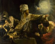 Belshazzar's Feast, and the Writing on Wall, Print by Rembrandt van Rijn Poster