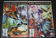 X-Men: Divided We Stand 1 & 2 Complete Set (2008, Marvel) 1st Print
