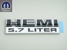 DODGE CHRYSLER JEEP 95-12 HEMI 5.7 L EMBLEM NAMEPLATE BADGE DECAL CHROME & BLACK