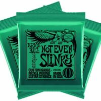 Ernie Ball Not Even Slinky Guitar Strings 3 SETS UPC749699126263 P02626