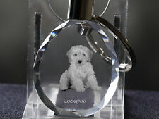 Cockapoo, Dog Crystal Round Keyring, High Quality, Crystal Animals Ca