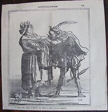 DAUMIER LITHOGRAPHIE ORIGINALE DU CHARIVARI, ACTUALITÉS N°671