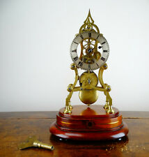 Antique English Victorian Gothic Chain Fusee Skeleton Clock Brass 8 Day Movement