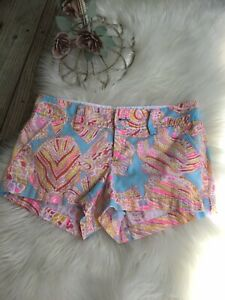 """Lilly Pulitzer Shorts """"The Walsh Short"""" Multicolor Sz 0"""