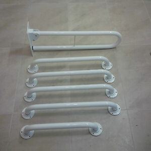 Disabled Toilet Doc M Grab Rail Pack - DDA Bathroom WC Hinged Support Safety