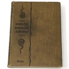 Vtg 1889 100,000 SYNONYMS ANTONYMS Rev Revell Briticisms Americanisms