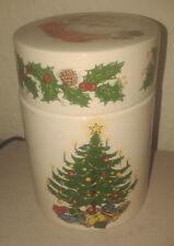Vintage/Retro Mason's Ironstone Christmas Xmas Tree and Santa Storage Jar - VGC