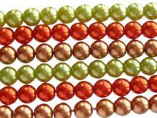 Terre cuite Orange Czech Glass Round Perles-Collier de 75 PERLES 8 mm