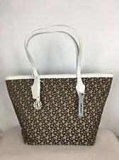 Brand New DKNY Heritage With Saffiano PVC Chino White Tote Bag RRP £260 Sale