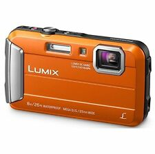 Panasonic Lumix DMC-TS30 Digital Camera Orange DMCTS30D Waterproof Open Box Demo