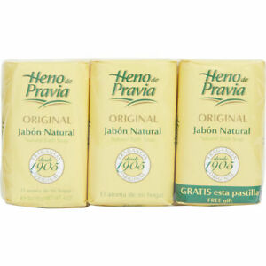 Heno de Pravia Natural Bath Soap 4oz (3 Soaps Total)