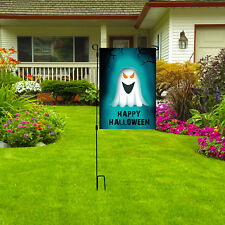 "Happy Halloween Garden Flag, 12"" x 18"" Outdoor Halloween Decor Ghost Yard Sign"