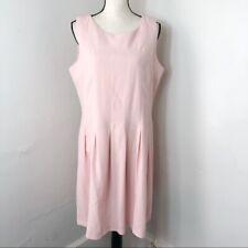 Chadwicks Blush Pink Sleeveless Pleated Dress Womens 14P