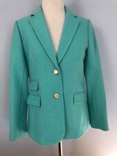 NWT J. CREW double-serge Wool Hacking Jacket Sz 10 2011 turquoise blue