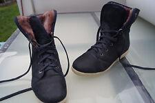 GRÜNWALD Winter Schuhe Stiefel Boots gefüttert Gr.42 unisex marine Leder TOP *