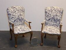 Dollhouse Miniature Vintage Bespaq Elegant Armchair Chair Set of 2 1:12 H147