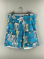 Red Sand Men's Board Shorts - Beach Bathers - Size 32 - Blue