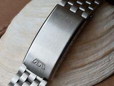 Vintage All Stainless Steel 17 mm Diver Bracelet w/Glycine Emblem Stamped Buckle