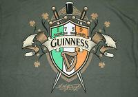 Guinness toucan pint glass sun rays 1759 vintage mustard orange T-shirt NEW