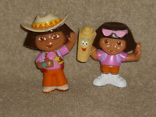 Dora the Explorer Figure Lot: Cowgirl & Summer Sunglasses Girl