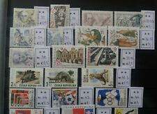 CV Mi€ 86.50: MNH CZECH REP. 1994 Full Year (Stamps + Stamp Blocks)