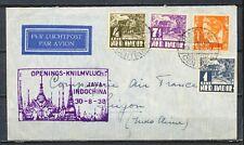 OPENINGS-KNILMVLUCHT JAVA INDOCHINA 30.8.1938 BATAVIA-SAIGON-CENTRAL        Vs21