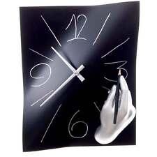 Orologio da muro Amanolibera nero resina decorata a mano 28x38 Made in Italy