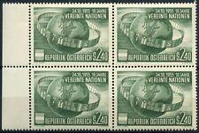 Austria 1955 SG#1279 United Nations Org. MNH Block Cat £96 #D90045
