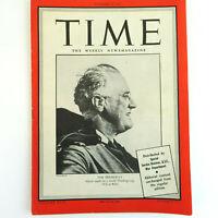 1940's President Franklin D Roosevelt VTG Time Magazine WW2 November 29, 1943