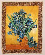 Vincent Van Gogh Irises Flowers Handmade Wallhanging Quilt