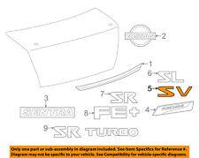 NISSAN OEM 13-18 Sentra Trunk Lid-Emblem Badge Nameplate 848953SH7A