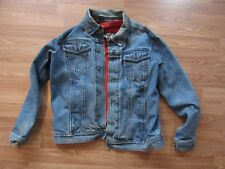 Harley Davidson Denim Jacket Mens Medium M Stitch Logo With Liner